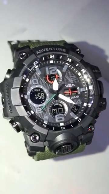 V2A Military Green Chronograph Analogue and Digital Sports Watch