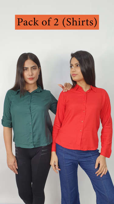 Pack of 2- Casual Shirts By GSA